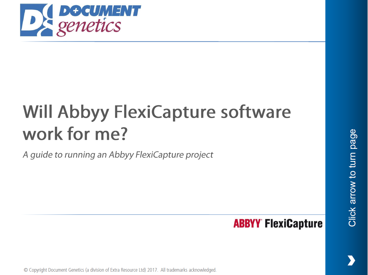 A guide to implementing Abbyy FlexiCapture front