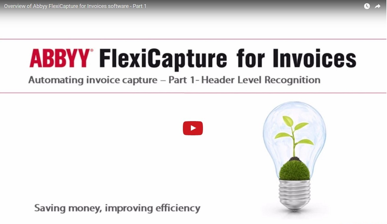Abbyy for Invoices Video for Header Level Recognition